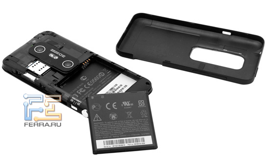 Батарея и задняя крышка HTC Evo 3D