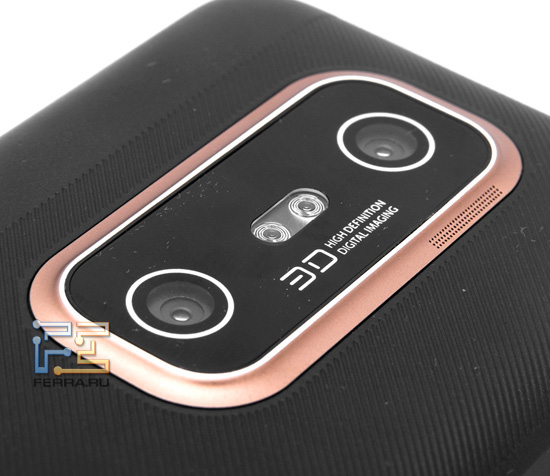 Две встроенные камеры HTC Evo 3D и двойная светодиодная вспышка