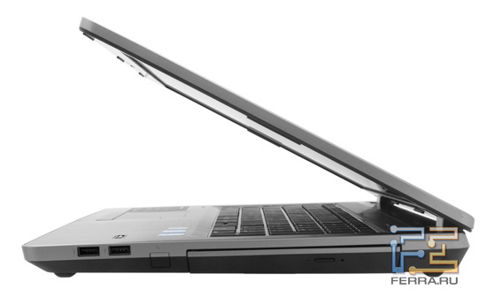 HP ProBook 4730s. Вид сбоку