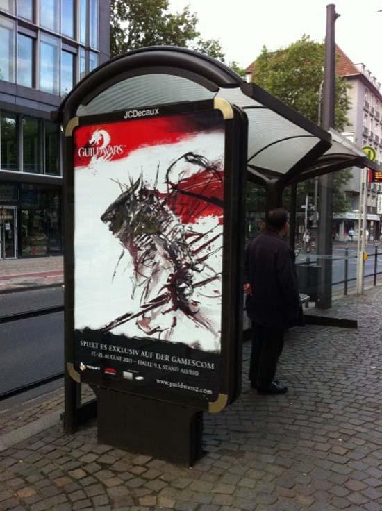 Жители Кельна могли узнать о том, что на GamesCom 2011 будет Guild Wars 2, за несколько дней до выставки