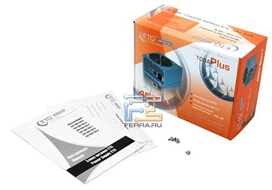 Упаковка и комплектация блока питания ETG ESP-450-12G-A