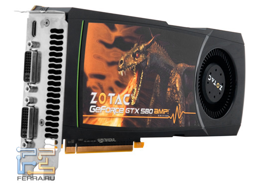Видеокарта Zotac GeForce GTX 580 AMP! Edition
