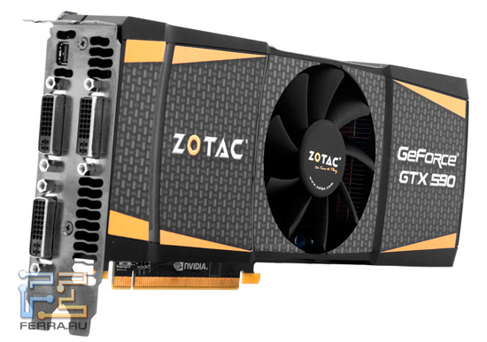 Видеокарта Zotac GeForce GTX 590