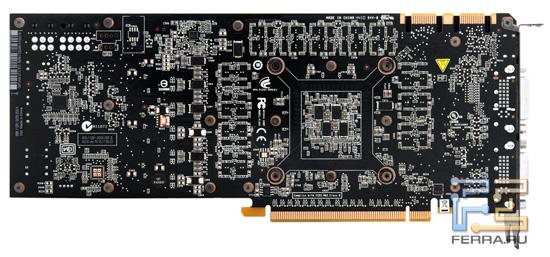 Печатная плата видеокарты GeForce GTX 570