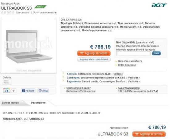Acer Ultrabook S3