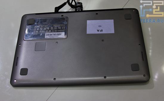 Вид снизу на Acer S3