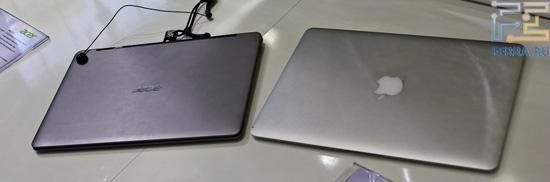 Еще Acer S3 в сравнении с MacBook Air