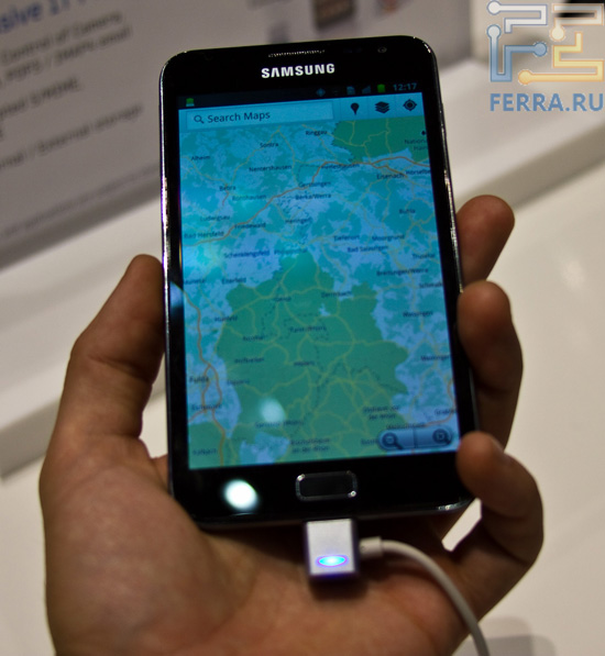 Samsung Galaxy Note в руке