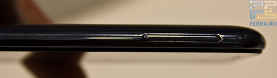 Вид на клавишу регулировки громкости на Samsung Galaxy Note