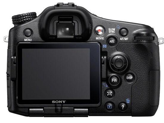 Sony Alpha SLT-A77 – вид сзади