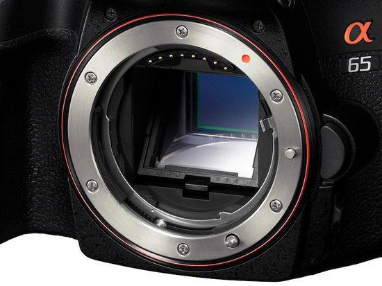 Sony Alpha SLT-A65 – полупрозрачное зеркало внутри