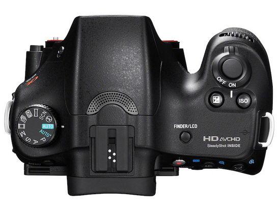 Sony Alpha SLT-A65 – на ручке камеры нет дополнительного дисплея