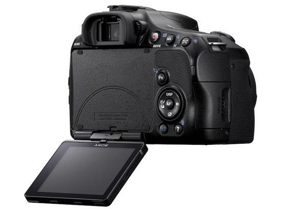 Sony Alpha SLT-A65 – поворотный механизм дисплея более прост, чем у SLT-A77