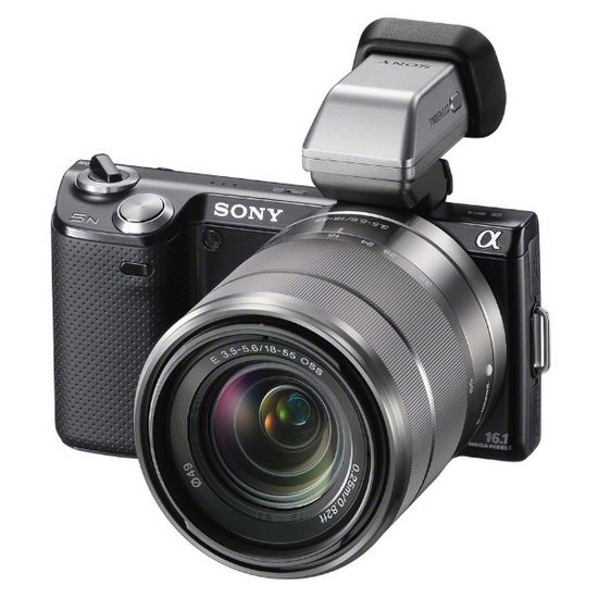 Sony NEX-5N с электронным внешним видоискателем