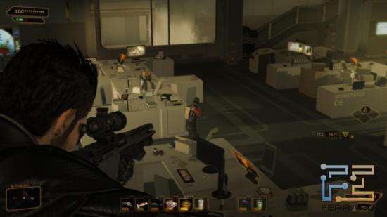 Deus Ex: Human Revolution - Похоже, этого охранника придется устранить. Слишком уж нервный