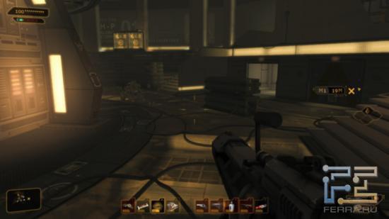 Тяжелая винтовка в Deus Ex: Human Revolution против роботов - не самое лучшее средство