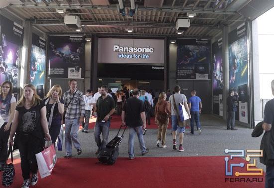 Вход в павильон компании Panasonic на выставке IFA 2011