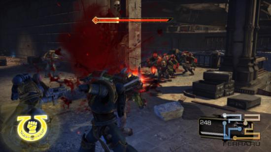 Форменное безумие? Да нет, вполне обычное для Warhammer 40.000: Space Marine сражение