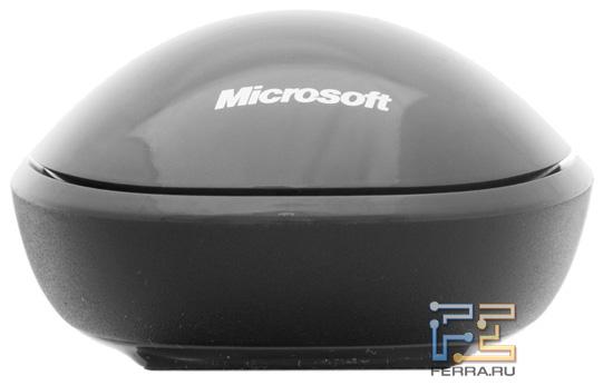 Задняя сторона Microsoft Explorer Touch Mouse с логотипом производителя