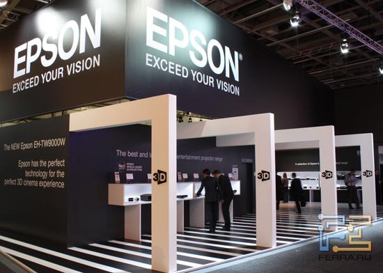 Огромный стенд Epson на выставке IFA 2011 в Берлине