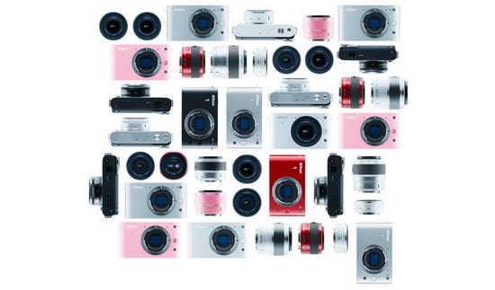 Все варианты расцветки камер Nikon 1 V1 и J1