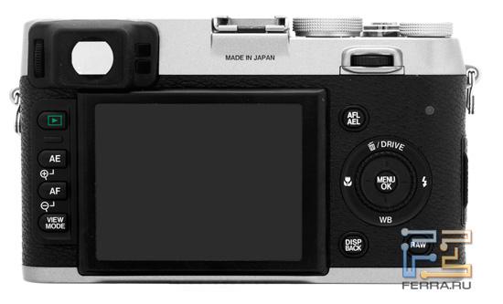 Задняя сторона корпуса Fujifilm FinePix X100