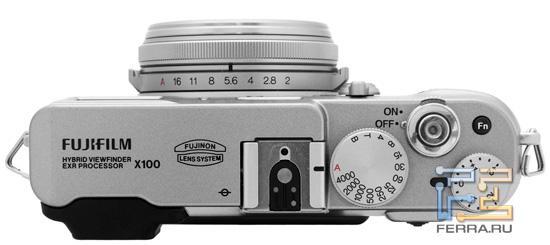 Верхняя сторона корпуса Fujifilm FinePix X100