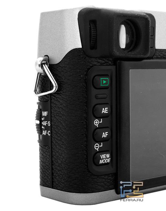 Правая сторона корпуса Fujifilm FinePix X100