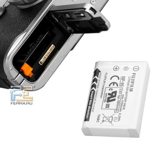 Аккумуляторная крышка и стандартный аккумулятор Fujifilm FinePix X100