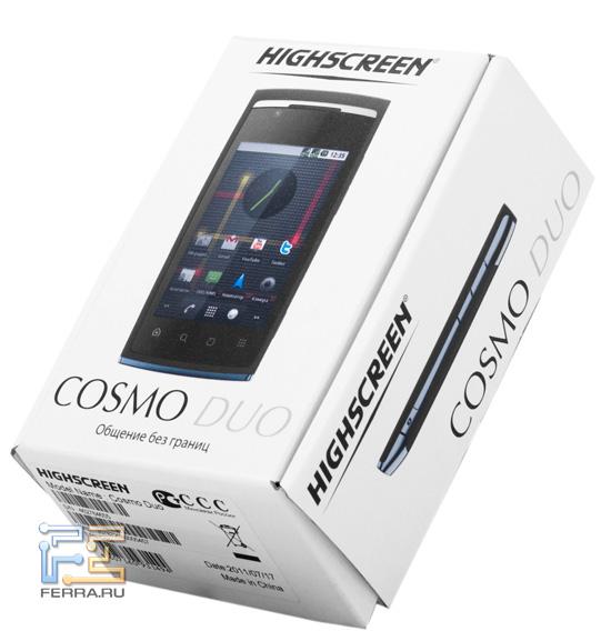 Коробка со смартфоном Highscreen Cosmo Duo