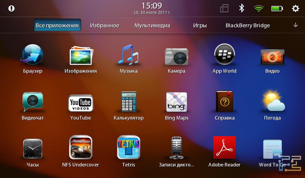 Приложения blackberry os для