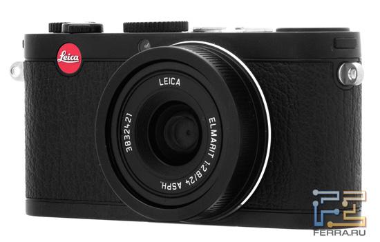 Leica X1: вид спереди