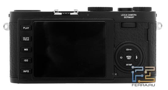 Leica X1: вид сзади