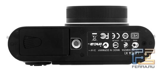 Leica X1: вид снизу