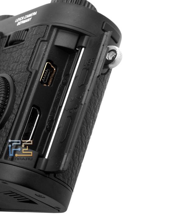 Leica X1: интерфейсные разъемы для подключения к компьютеру и телевизору