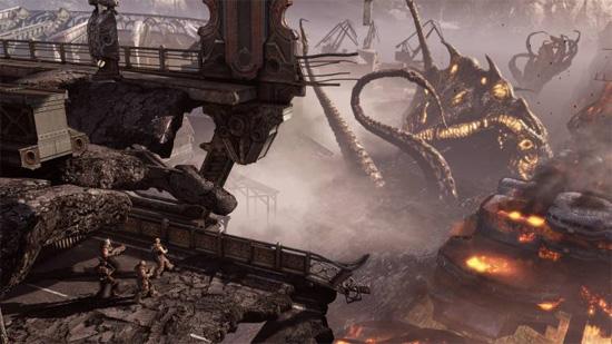 Рыбалка в мире Gears of War 3 иногда может принести неожиданный улов