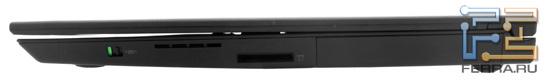 Правый торец Lenovo ThinkPad X1: карт-ридер