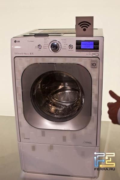 Еще один вид на стиральную машину LG Smart ThinQ с Wi-Fi