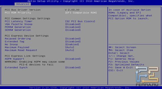 UEFI BIOS на материнской плате Foxconn Rattler