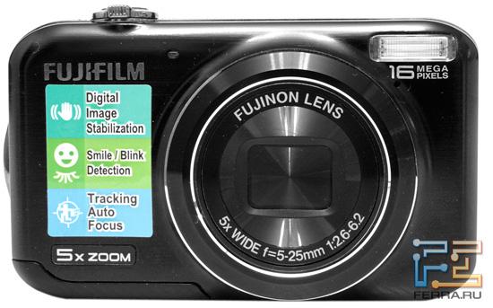 Fujifilm FinePix JX350. Вид спереди