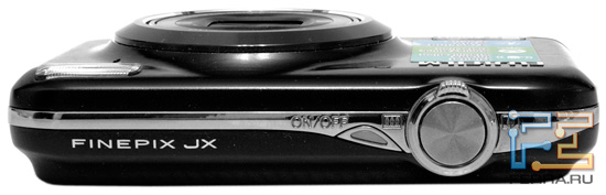 Fujifilm FinePix JX350. Вид сверху