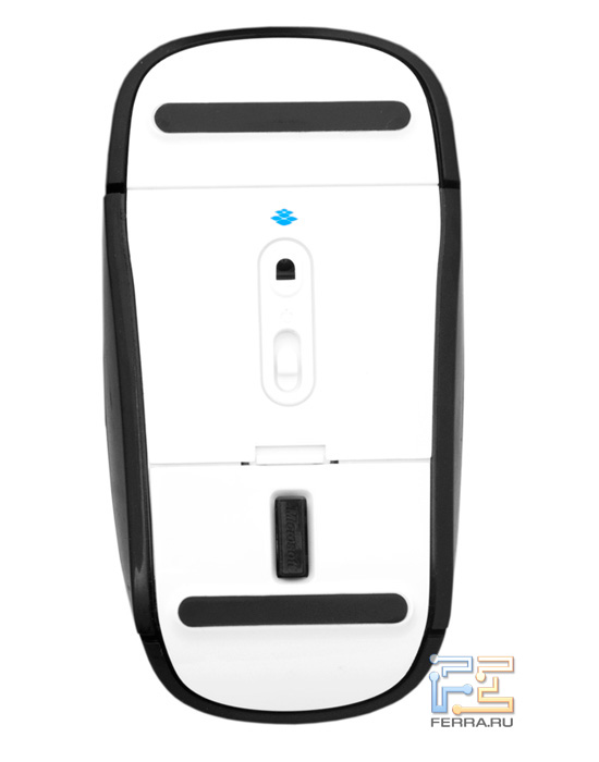 Мышь Microsoft Touch Mouse снизу