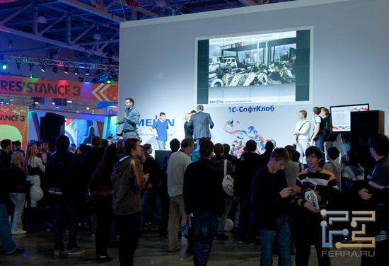 Стенд 1С-Софтклаб на выставке Игромир 2011