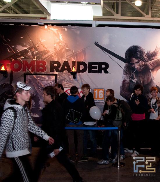 Очередь на стенде с Tomb Raider на выставке Игромир 2011