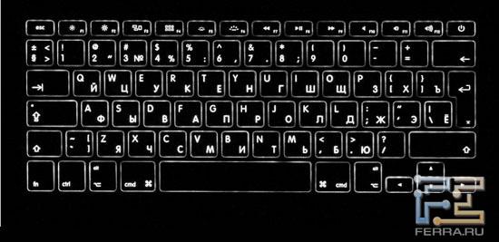 Подсветка клавиатуры Apple MacBook Air 13,3