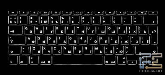 Подсветка клавиатуры Apple MacBook Air 11,6