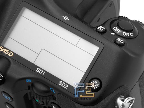 Монохромный информационный дисплей Pentax 645D