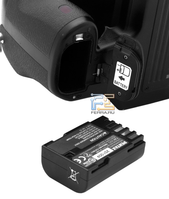 Батарея в Pentax 645D такая же, как и в Pentax K-5