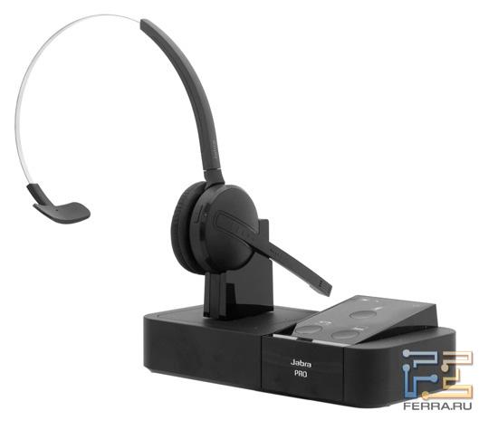 Jabra Pro 9450 с установленной гарнитурой