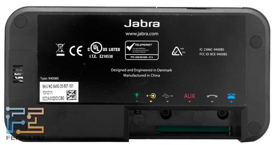 Нижняя грань и динамик Jabra Pro 9450